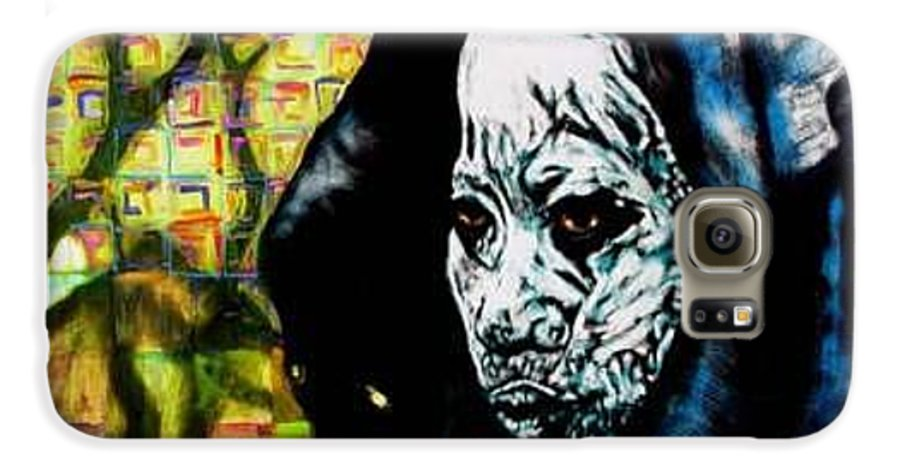 Tribal Galaxy S6 Case featuring the mixed media Pathways by Chester Elmore