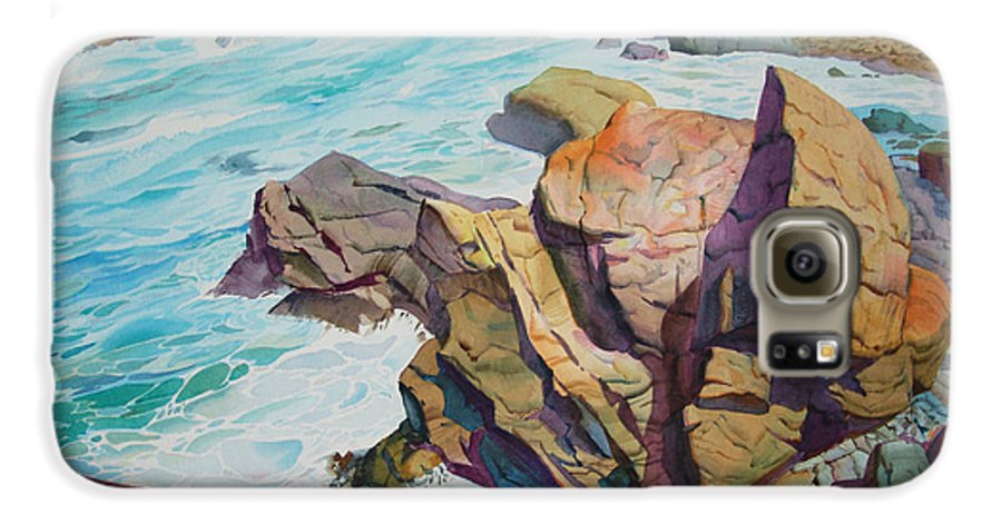 Watercolor Galaxy S6 Case featuring the painting Patricks Point by John Norman Stewart
