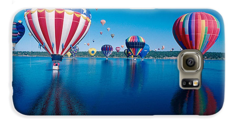 Hot Air Balloons Galaxy S6 Case featuring the photograph Patriotic Hot Air Balloon by Jerry McElroy