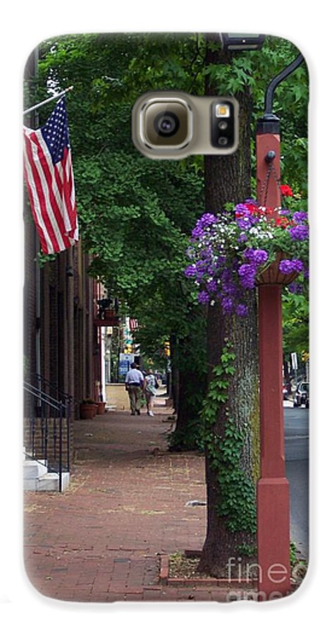 Cityscape Galaxy S6 Case featuring the photograph Patriotic Street In Philadelphia by Debbi Granruth