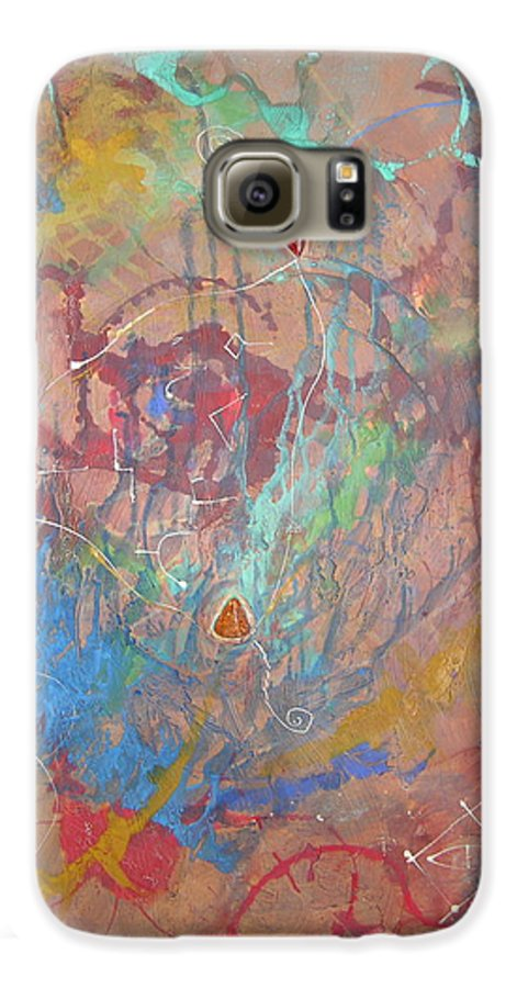 Modern Galaxy S6 Case featuring the painting Peace In Motion by Frederic Payet