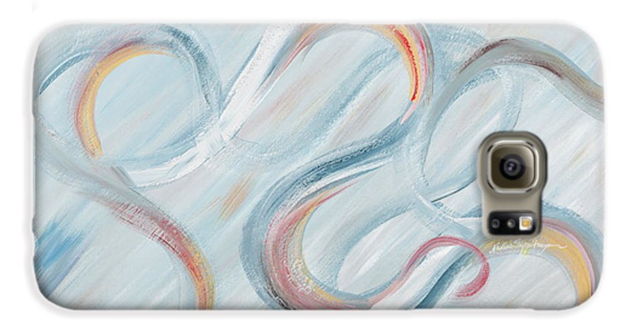 Peace Galaxy S6 Case featuring the painting Peace by Nadine Rippelmeyer