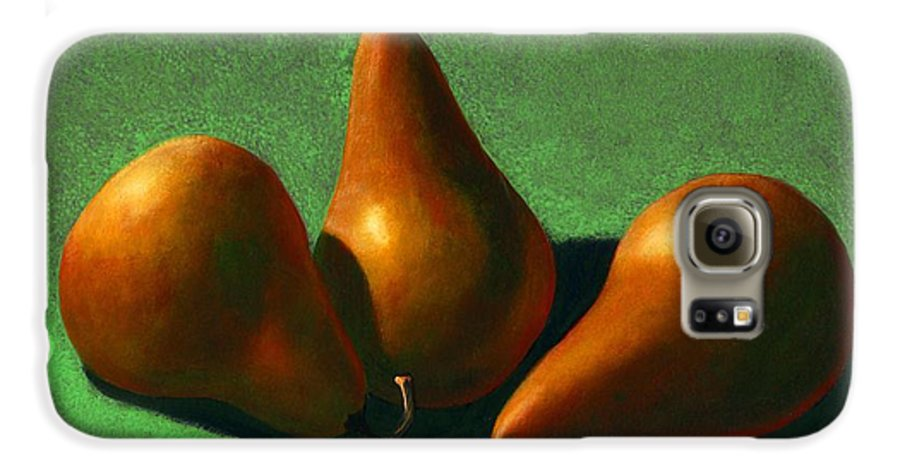 Still Life Galaxy S6 Case featuring the painting Pears by Frank Wilson
