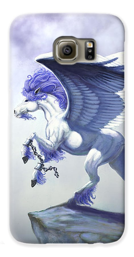 Pegasus.fantasy Galaxy S6 Case featuring the digital art Pegasus Unchained by Stanley Morrison