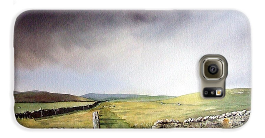 Landscape Galaxy S6 Case featuring the painting Pennine Way by Paul Dene Marlor