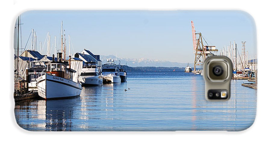 Olympia Galaxy S6 Case featuring the photograph Percival Landing by Larry Keahey