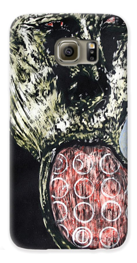 Portrait Galaxy S6 Case featuring the mixed media Persephone by Chester Elmore
