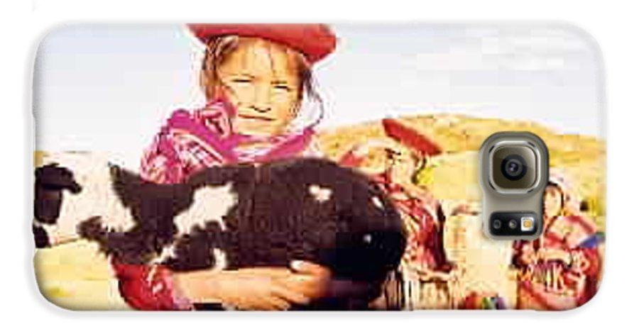 Peru Galaxy S6 Case featuring the photograph Peruvian Girl by Kathy Schumann