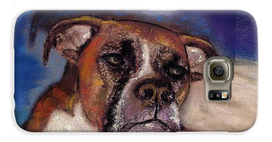 Pastel Pet Portraits Galaxy S6 Case featuring the painting Pet Portraits by Darla Joy Johnson