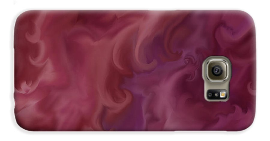 Fantasy Galaxy S6 Case featuring the painting Phoenix Rising by Anne Norskog