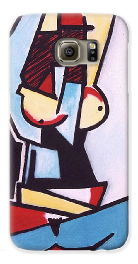 Picasso Galaxy S6 Case featuring the painting Picasso by Thomas Valentine