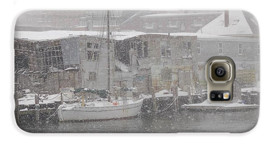 Sail Galaxy S6 Case featuring the photograph Pier In Disrepair by Faith Harron Boudreau