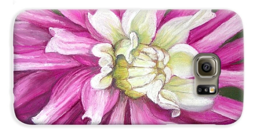 Floral Galaxy S6 Case featuring the painting Pink Petal Blast by Minaz Jantz
