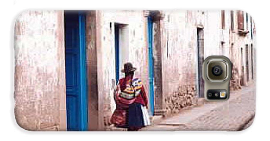 Peru Galaxy S6 Case featuring the photograph Pisaq Woman by Kathy Schumann