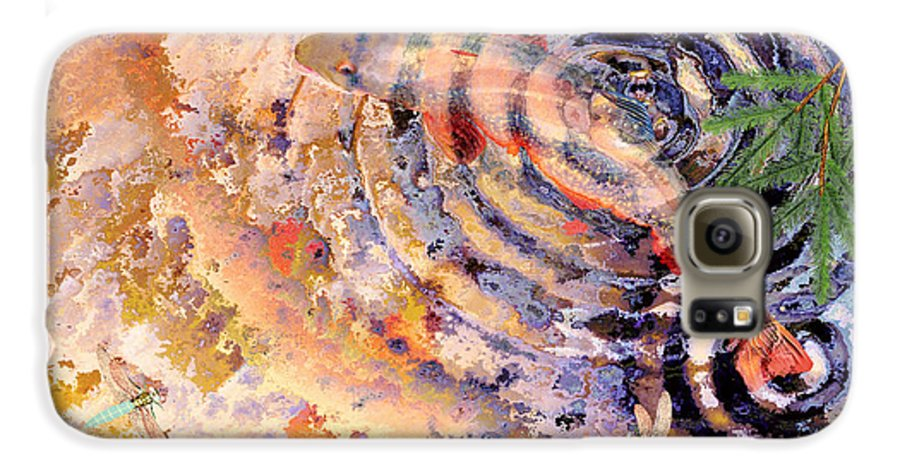 Pond Galaxy S6 Case featuring the painting Pisces by Peter J Sucy