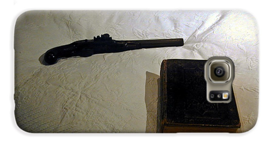 Pistol Galaxy S6 Case featuring the photograph Pistol And Bible by Douglas Barnett