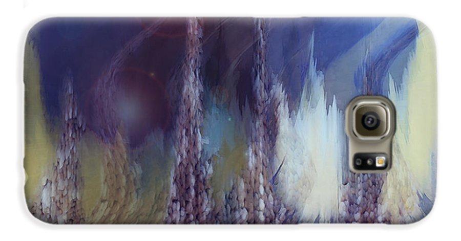 Abstract Galaxy S6 Case featuring the digital art Pixel Dream by Linda Sannuti