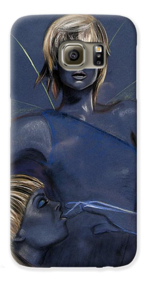Pixie Galaxy S6 Case featuring the pastel Pixie by Maryn Crawford