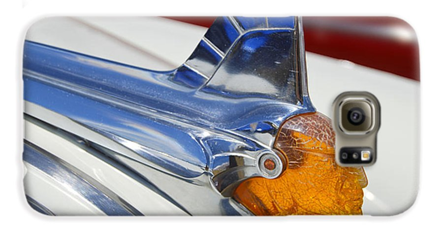 Pontiac Galaxy S6 Case featuring the photograph Pontiac Hood Ornament by Larry Keahey