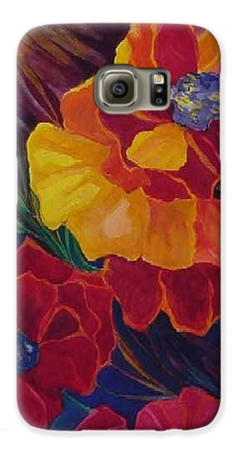 Flowers Galaxy S6 Case featuring the painting Poppies by Carolyn LeGrand