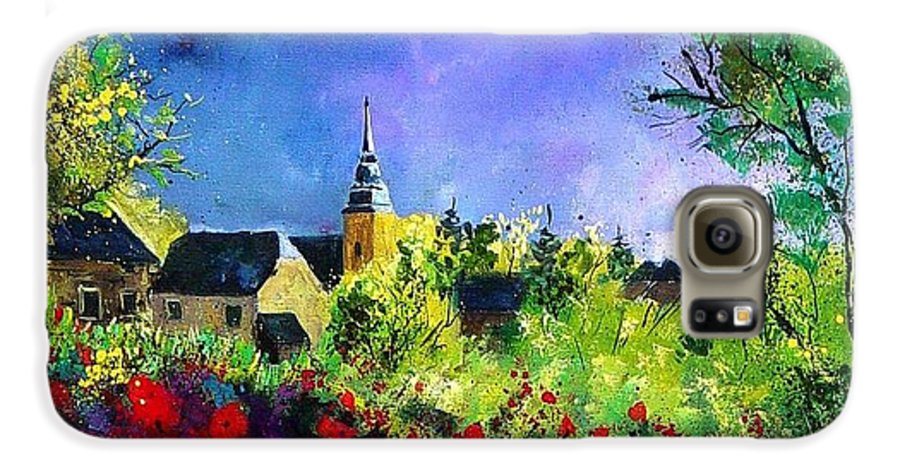 Flowers Galaxy S6 Case featuring the painting Poppies In Villers by Pol Ledent