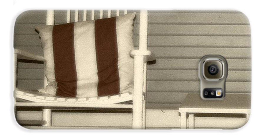 Rocking Chair Galaxy S6 Case featuring the photograph Porch Rocker by Debbi Granruth