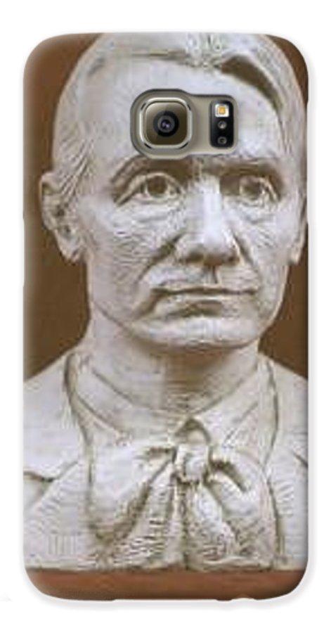 Rudolf Steiner Galaxy S6 Case featuring the sculpture Portrait Bust Of Rudolf Steiner by David Dozier