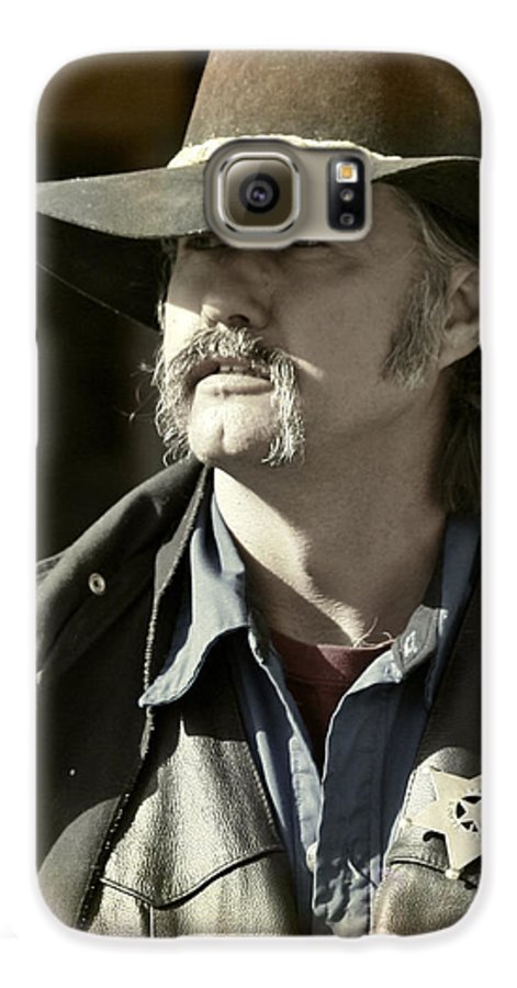 Portrait Galaxy S6 Case featuring the photograph Portrait Of A Bygone Time Sheriff by Christine Till