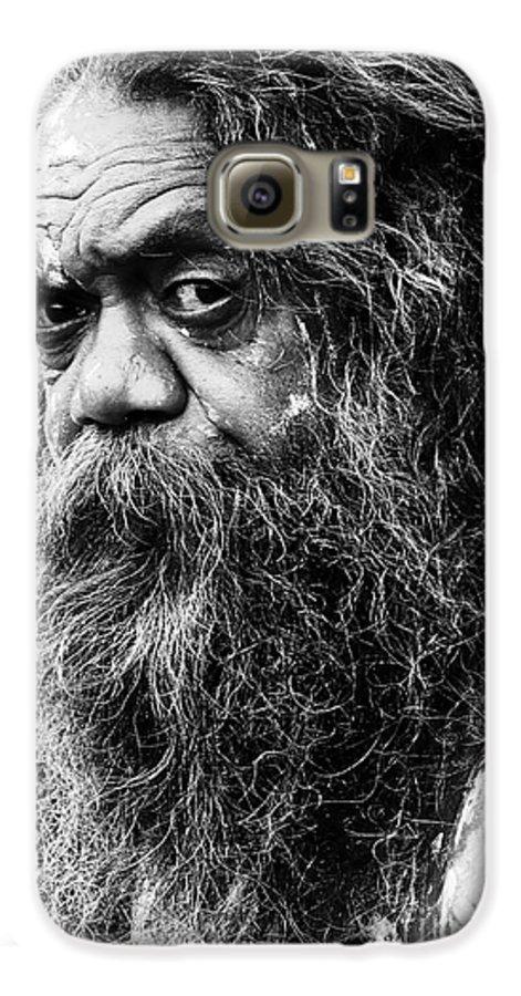 Aborigine Aboriginal Australian Galaxy S6 Case featuring the photograph Portrait Of An Australian Aborigine by Sheila Smart Fine Art Photography