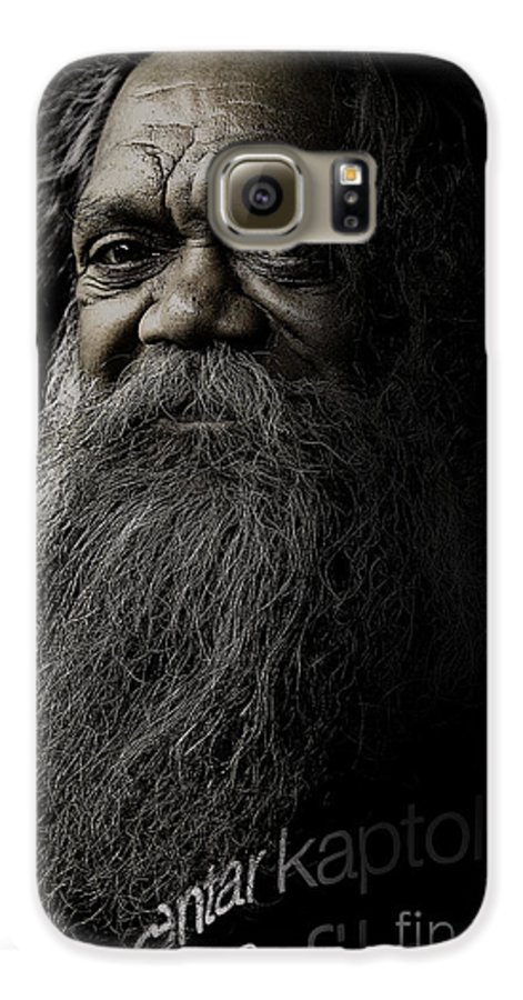 Aboriginal Galaxy S6 Case featuring the photograph Portrait Of Cedric by Avalon Fine Art Photography