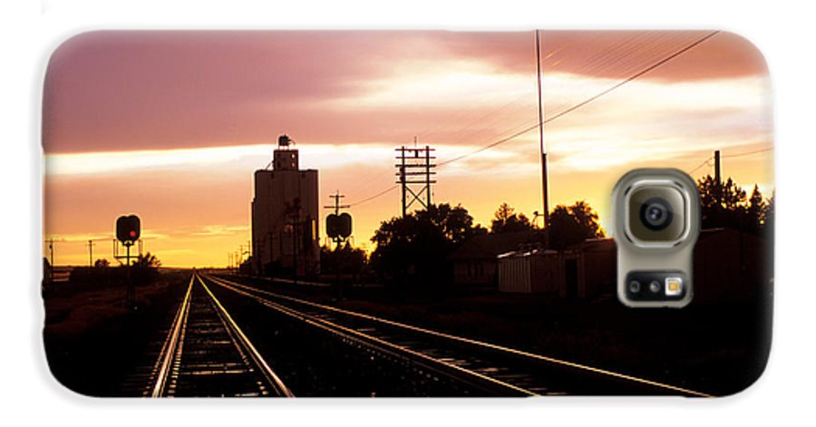 Potter Galaxy S6 Case featuring the photograph Potter Tracks by Jerry McElroy