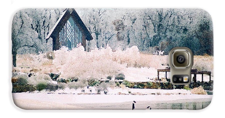 Landscape Galaxy S6 Case featuring the photograph Powell Gardens Chapel by Steve Karol