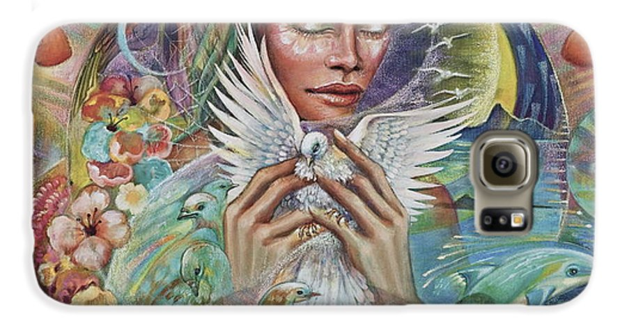 Dove Galaxy S6 Case featuring the painting Prayer For Peace by Blaze Warrender
