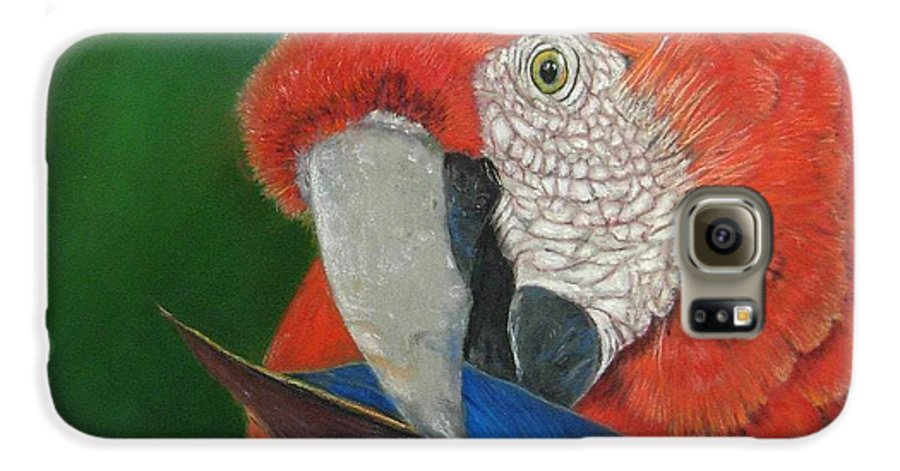 Bird Galaxy S6 Case featuring the painting Presumida by Ceci Watson