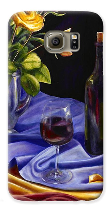 Still Life Galaxy S6 Case featuring the painting Private Label by Shannon Grissom