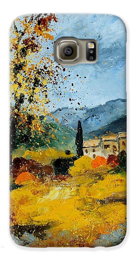 Provence Galaxy S6 Case featuring the painting Provence 45 by Pol Ledent