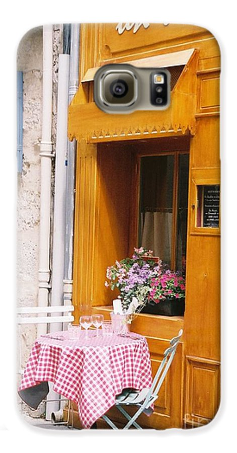 Cafe Galaxy S6 Case featuring the photograph Provence Cafe by Nadine Rippelmeyer