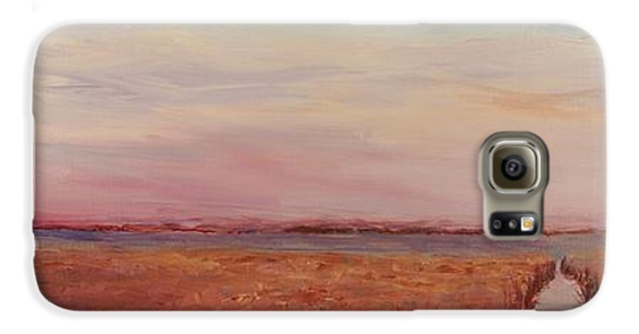 Landscape Galaxy S6 Case featuring the painting Provence Camargue by Nadine Rippelmeyer