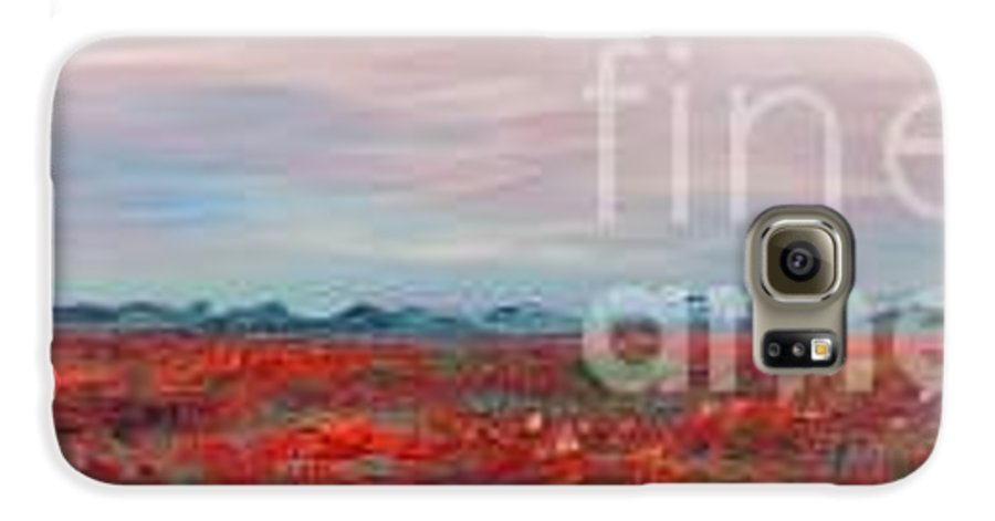 Poppies Galaxy S6 Case featuring the painting Provence Poppies by Nadine Rippelmeyer