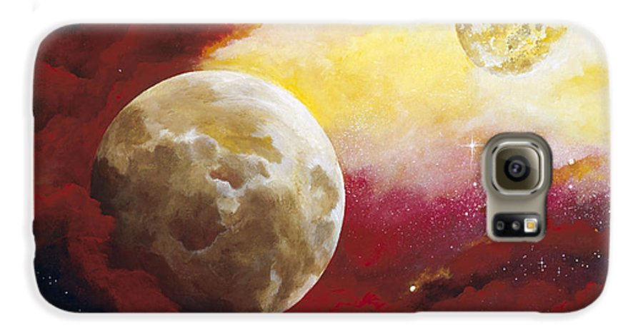 Space Galaxy S6 Case featuring the painting Psalm by Laura Swink