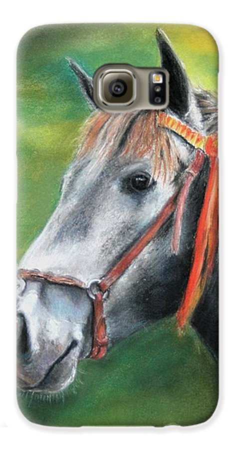 Horse Galaxy S6 Case featuring the painting Pure Spanish by Ceci Watson