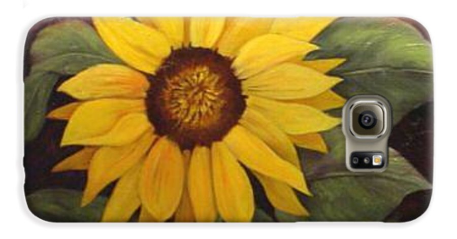 Still Life Galaxy S6 Case featuring the painting Pure Sunshine Sold by Susan Dehlinger