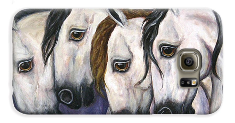 Horse Painting Galaxy S6 Case featuring the painting Purple Haze by Frances Gillotti
