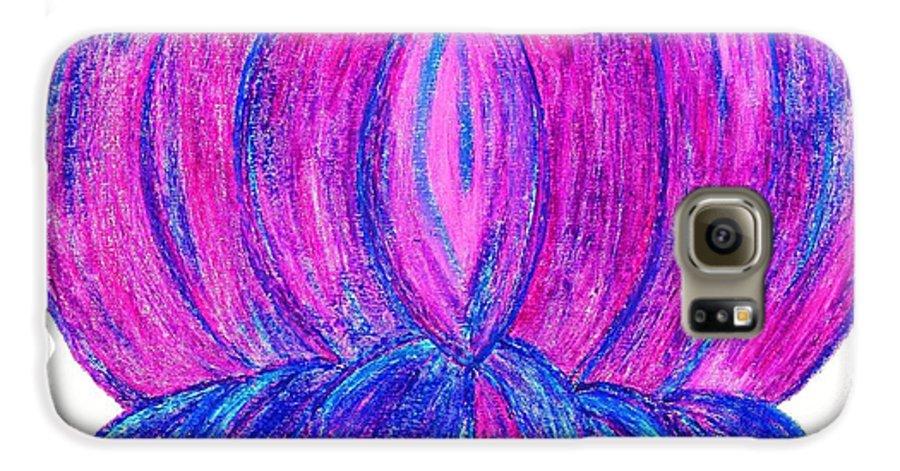 Purple Lotus Galaxy S6 Case featuring the pastel Purple Lotus by Chandelle Hazen