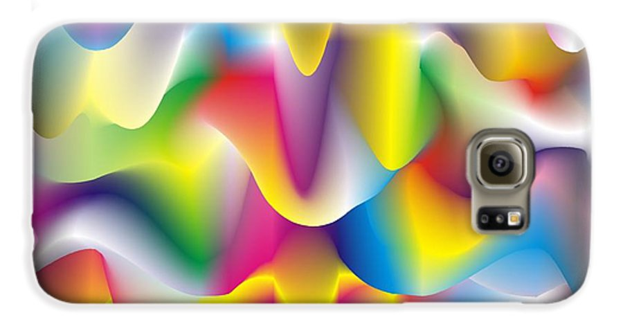 Abstract Galaxy S6 Case featuring the digital art Quantum Landscape 1 by Walter Oliver Neal