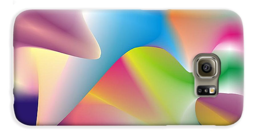 Abstract Galaxy S6 Case featuring the digital art Quantum Landscape 2 by Walter Oliver Neal