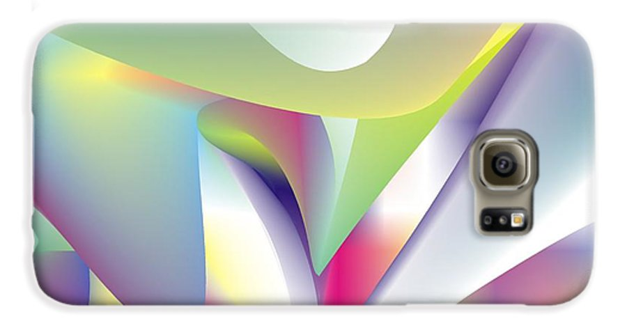 Abstract Galaxy S6 Case featuring the digital art Quantum Landscape 5 by Walter Oliver Neal