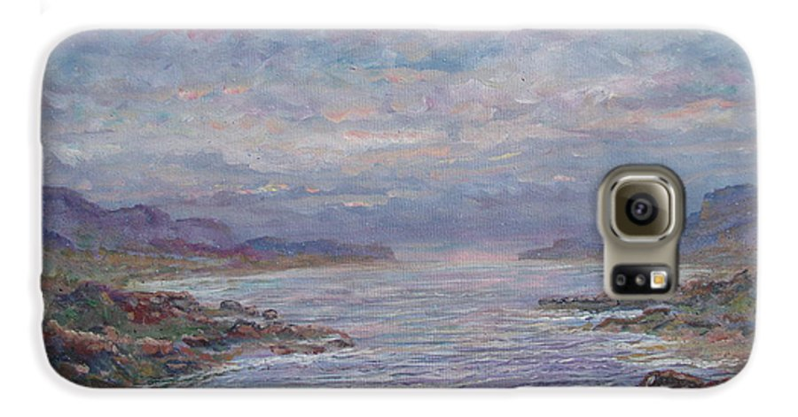 Painting Galaxy S6 Case featuring the painting Quiet Bay. by Leonard Holland