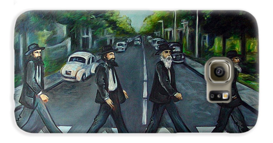 Surreal Galaxy S6 Case featuring the painting Rabbi Road by Valerie Vescovi