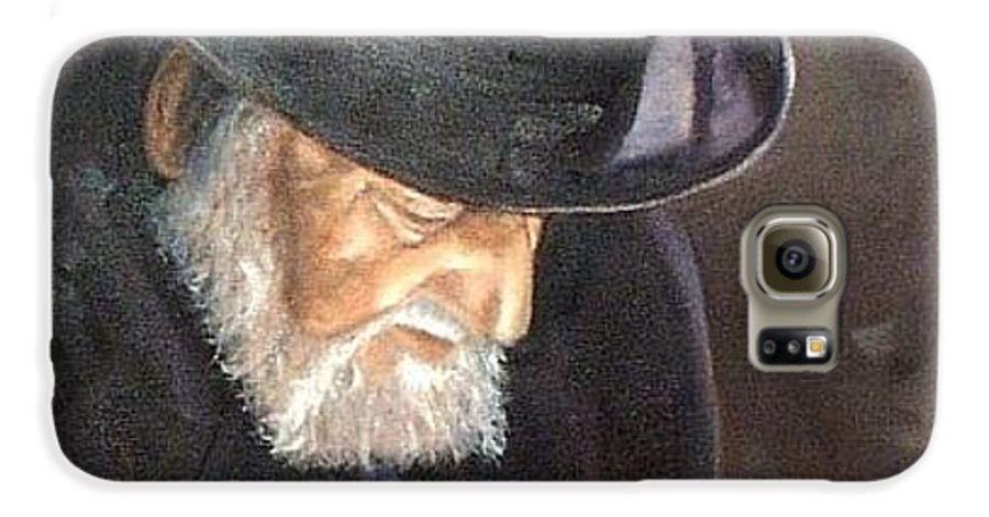 Portrait Galaxy S6 Case featuring the painting Rabbi by Toni Berry
